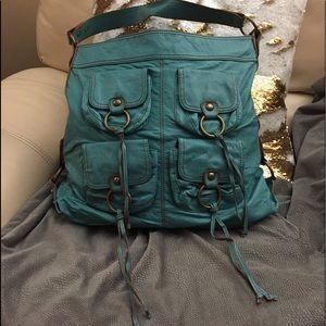 CHINESE LAUNDRY Teal 4 Pocket Slouchy Handbag